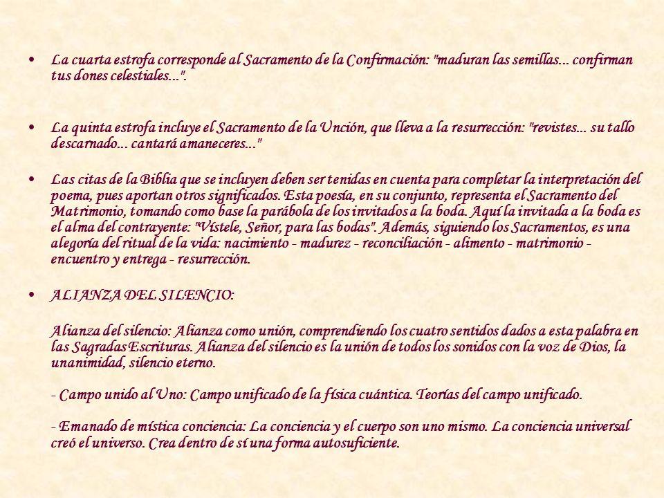 ¡VÍSTEME, SEÑOR, PARA LAS BODAS!: Esta composición de cinco estrofas contiene los siete Sacramentos de la doctrina cristiana y toma conceptos de las S