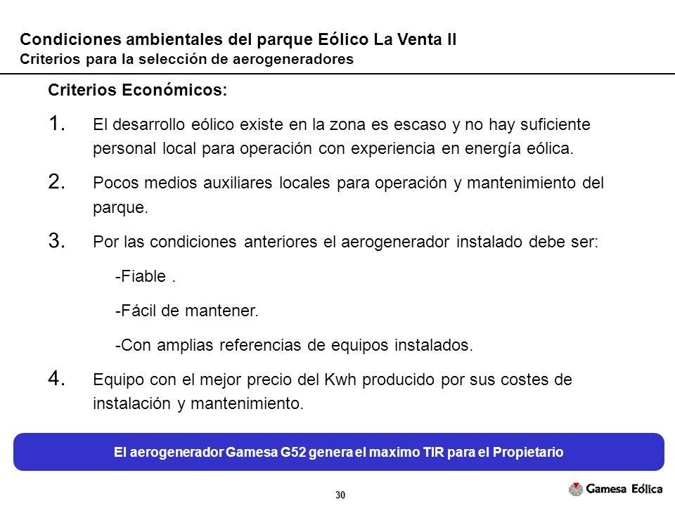 30 Criterios Económicos: 1.