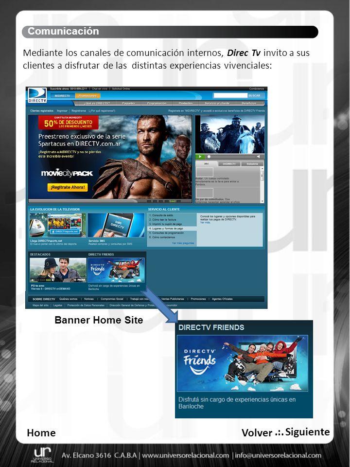E.mailing Call Center Comunicación Finalizar HomeVolver.:.