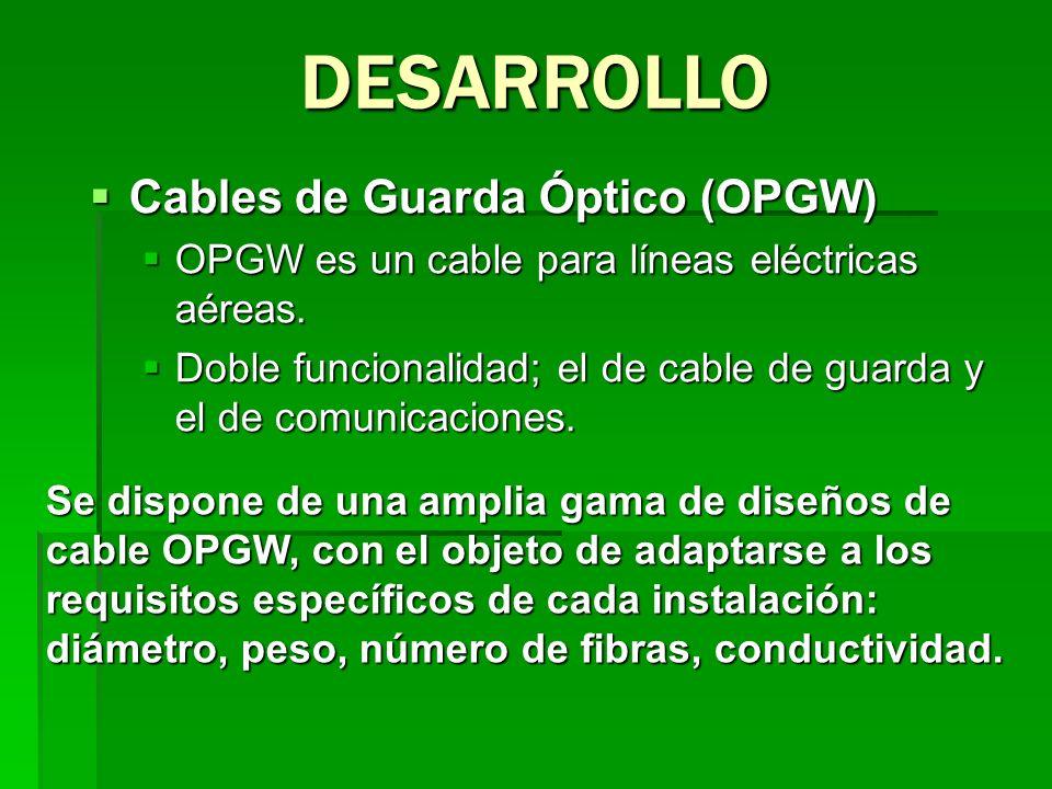 Cables de Guarda Óptico (OPGW) Cables de Guarda Óptico (OPGW) OPGW es un cable para líneas eléctricas aéreas. OPGW es un cable para líneas eléctricas