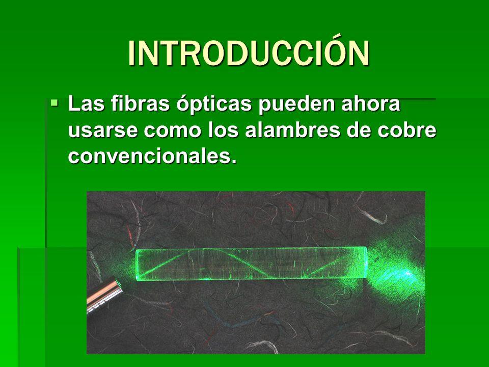 Los diferentes tipos de fibras ópticas en gran manera, desde el número de fibras que pueden llevar, su peso, sus tipos de coberturas para diferentes lugares de instalación, su potencial instalación, su velocidad de transmisión, y su fiabilidad.