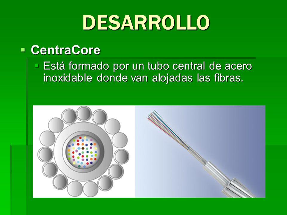 CentraCore CentraCore Está formado por un tubo central de acero inoxidable donde van alojadas las fibras. Está formado por un tubo central de acero in