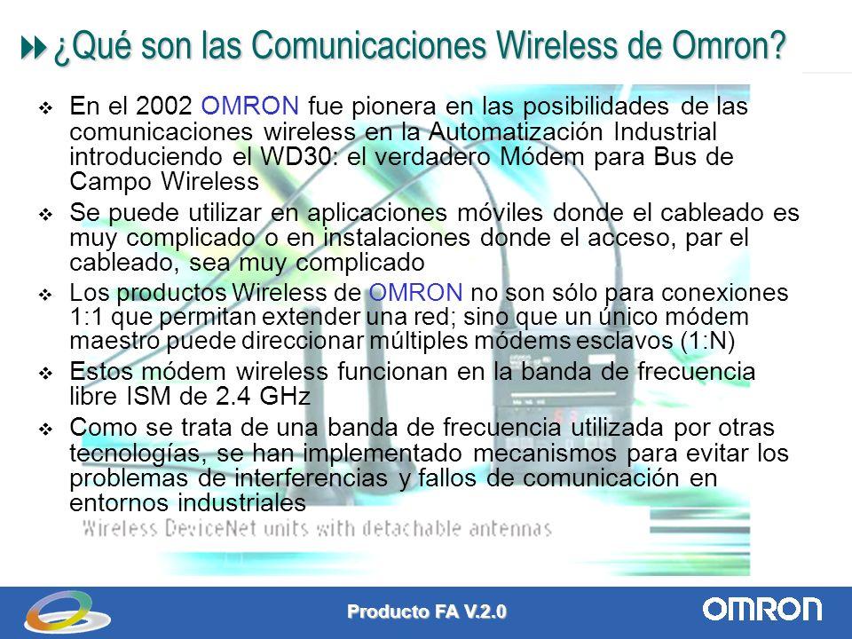 Producto FA V.2.0 1 ¿Qué son las Comunicaciones Wireless de Omron.