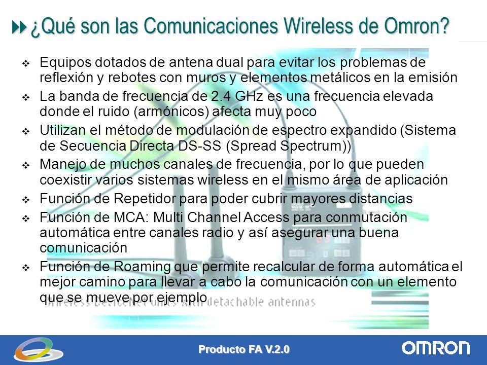 Producto FA V.2.0 2 ¿Qué son las Comunicaciones Wireless de Omron.