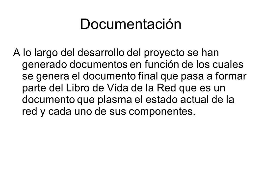 Documentación A lo largo del desarrollo del proyecto se han generado documentos en función de los cuales se genera el documento final que pasa a forma
