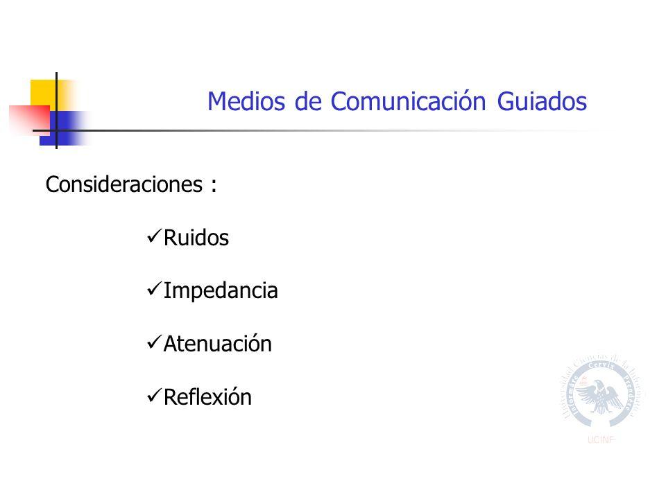 Consideraciones : Ruidos Impedancia Atenuación Reflexión
