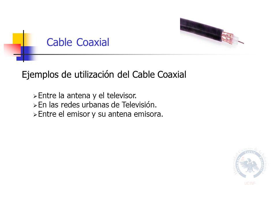 Cable Coaxial Ejemplos de utilización del Cable Coaxial Entre la antena y el televisor.