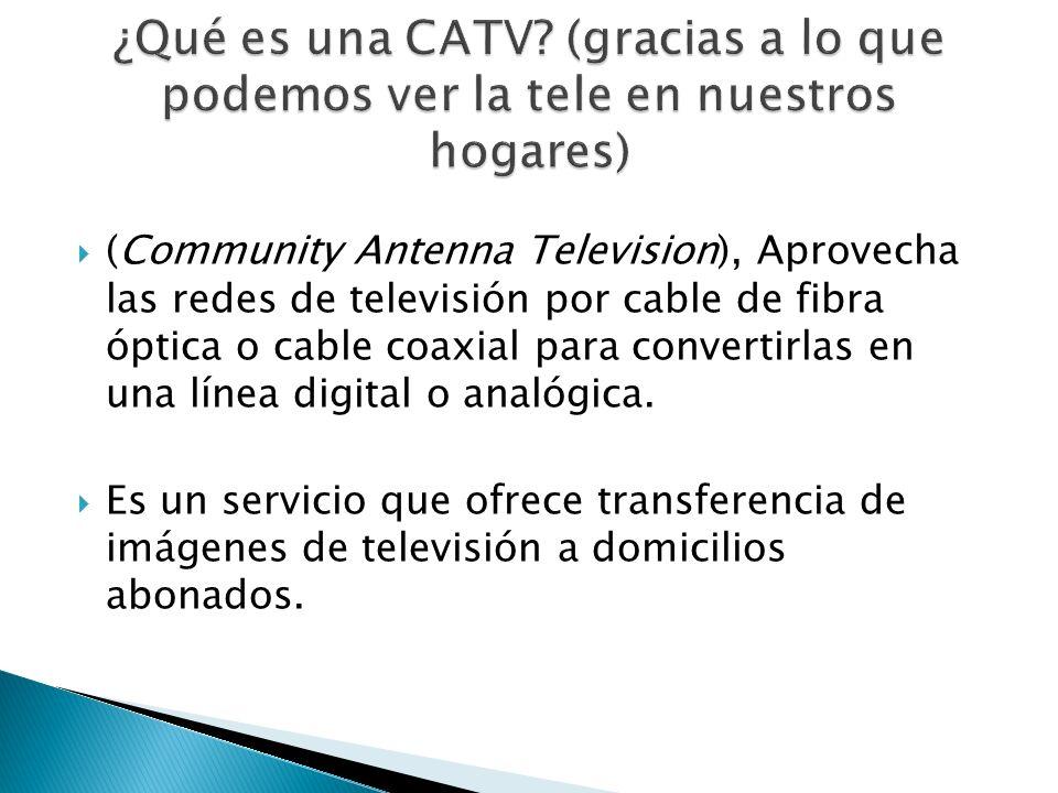(Community Antenna Television), Aprovecha las redes de televisión por cable de fibra óptica o cable coaxial para convertirlas en una línea digital o a