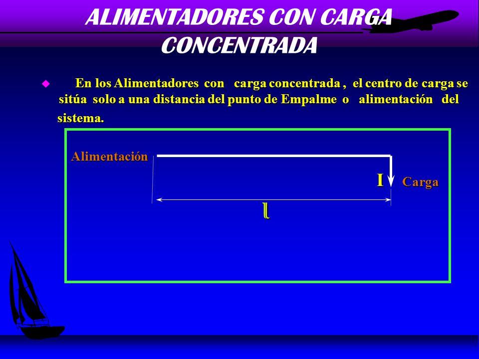 CALCULO DE ALIMENTADORES u La exigencia establece que la Pérdida de Tensión en la Línea no debe exceder a un 3 % la Tensión Nominal de Fase ; siempre que la pérdida de voltaje en el punto mas desfavorable de la instalación no exceda a un 5 % de la tensión nominal.