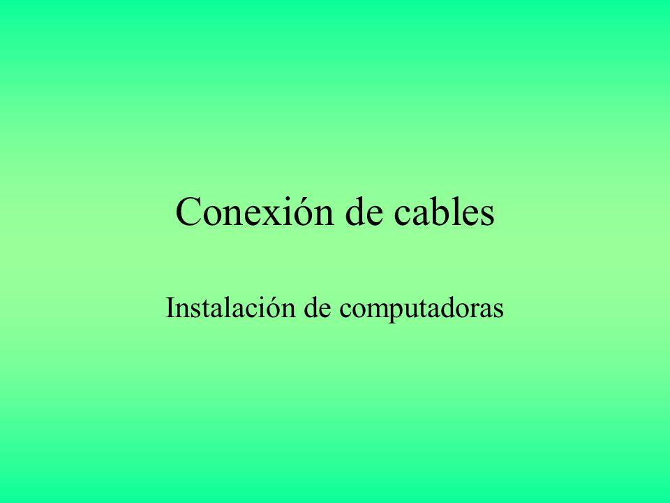 Conexión de cables Instalación de computadoras