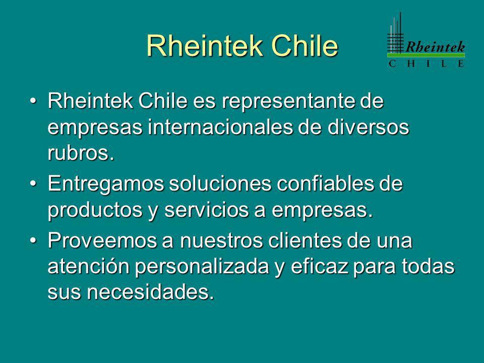 Rheintek Chile Rheintek Chile es representante de empresas internacionales de diversos rubros.Rheintek Chile es representante de empresas internaciona