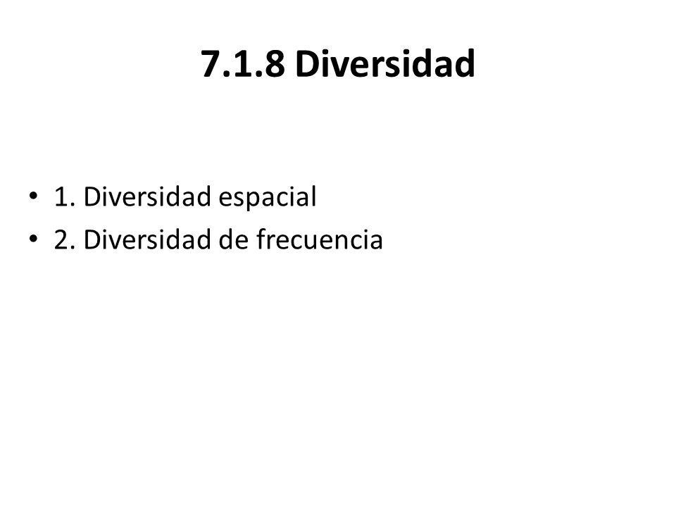 7.1.8 Diversidad 1. Diversidad espacial 2. Diversidad de frecuencia
