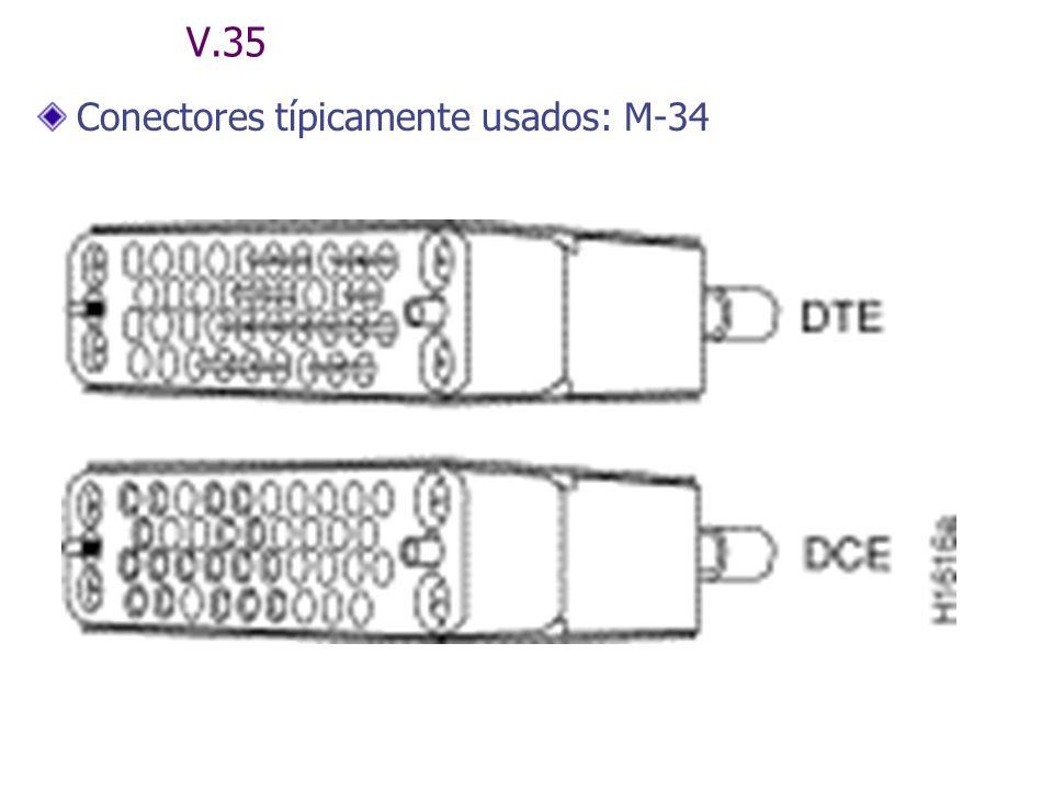 V.35 Conectores típicamente usados: M-34