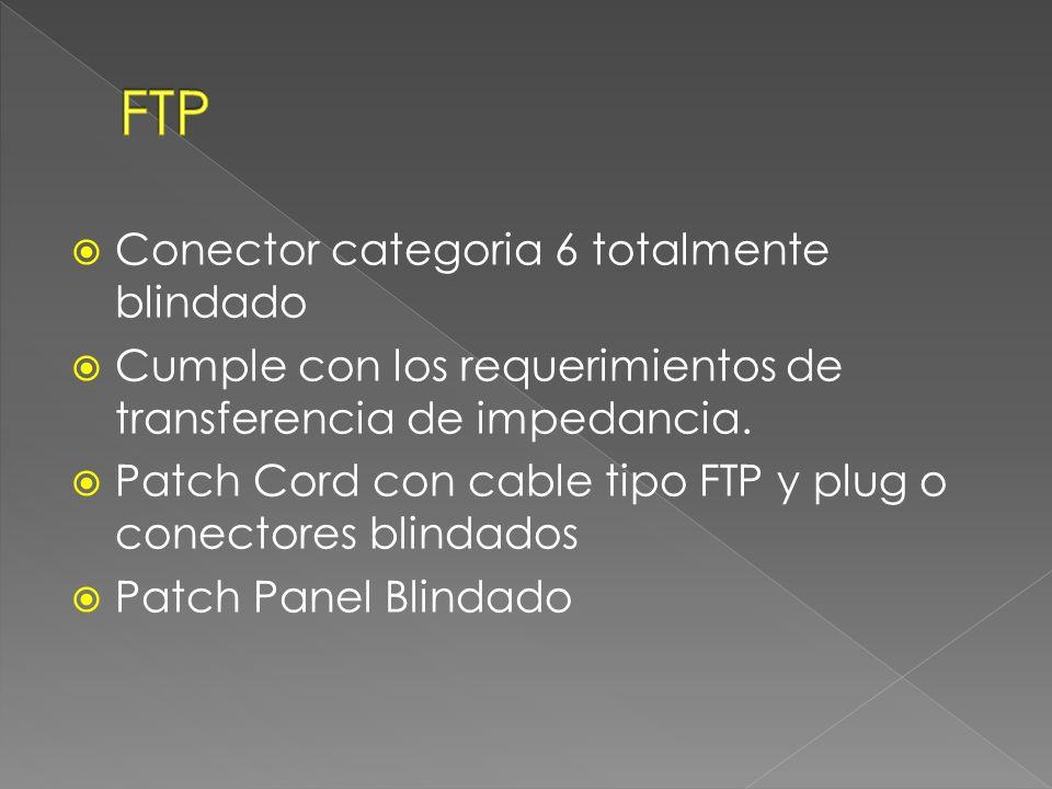 Solución Categoría 6 Blindada FTP Provee una solución robusta resistente al ruido externo.