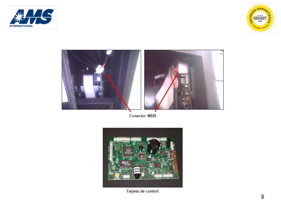 9 Conector MDB Tarjeta de control