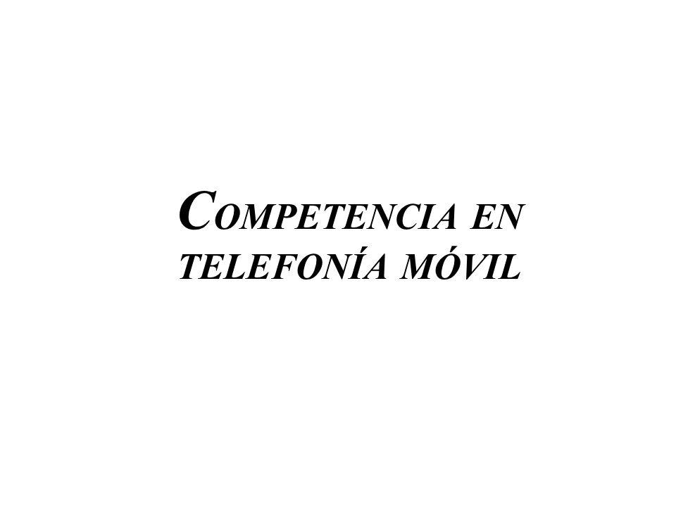 C OMPETENCIA EN TELEFONÍA MÓVIL