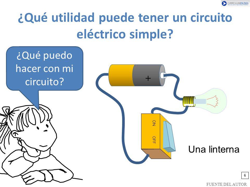 ¿Qué utilidad puede tener un circuito eléctrico simple.