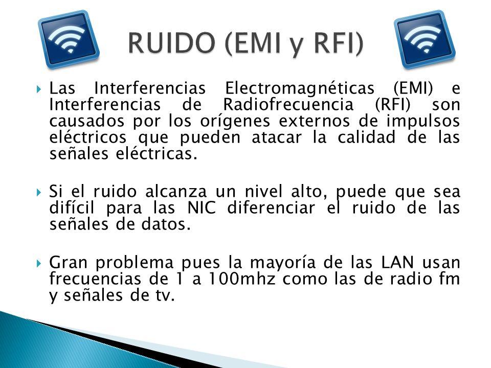 Las Interferencias Electromagnéticas (EMI) e Interferencias de Radiofrecuencia (RFI) son causados por los orígenes externos de impulsos eléctricos que