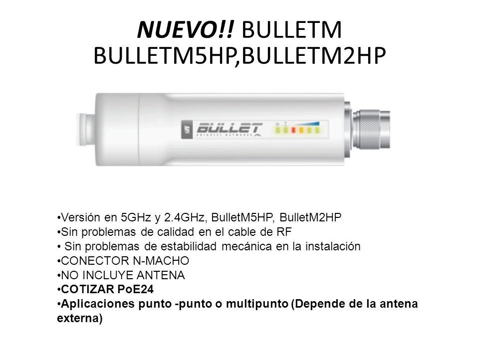 NUEVO!! BULLETM BULLETM5HP,BULLETM2HP Versión en 5GHz y 2.4GHz, BulletM5HP, BulletM2HP Sin problemas de calidad en el cable de RF Sin problemas de est