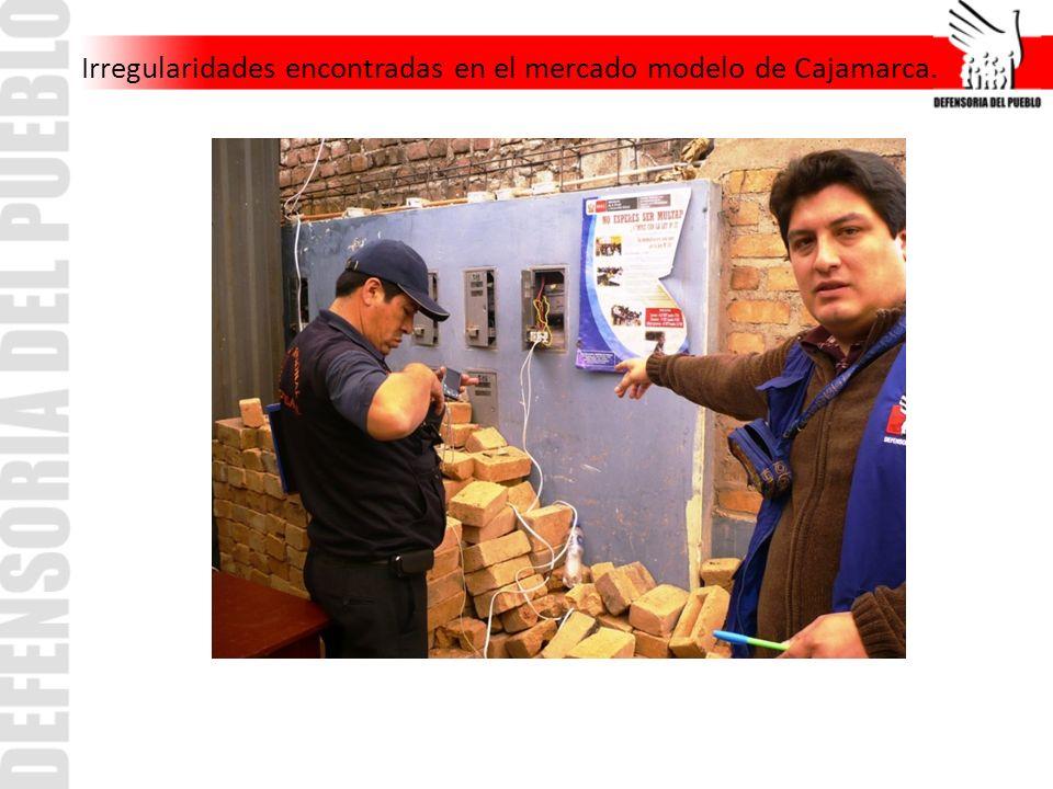 Irregularidades encontradas en el mercado modelo de Cajamarca.