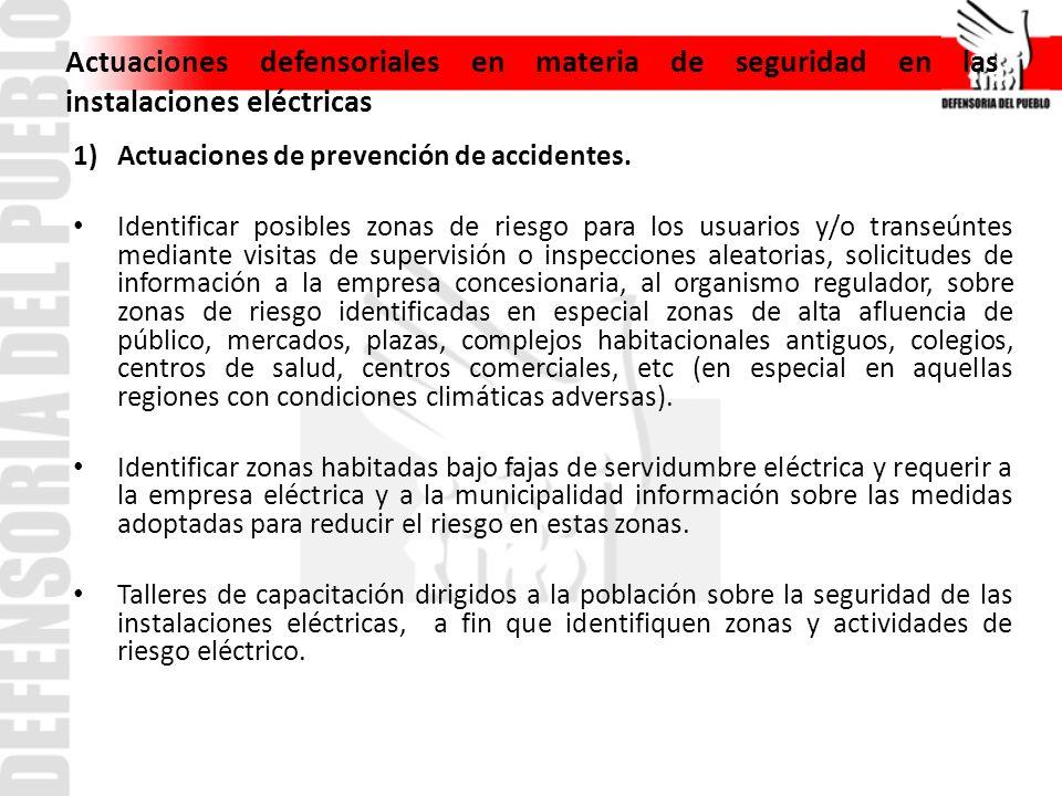 2) Actuaciones luego de producido los accidentes.