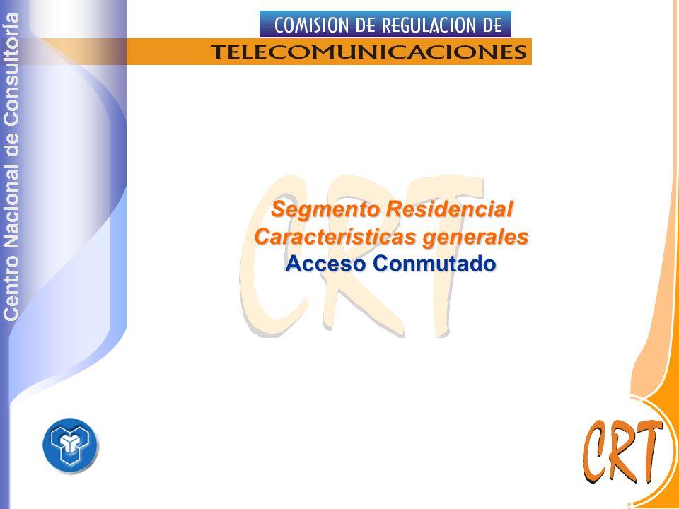 Centro Nacional de Consultoría Segmento Residencial Características generales Acceso Conmutado