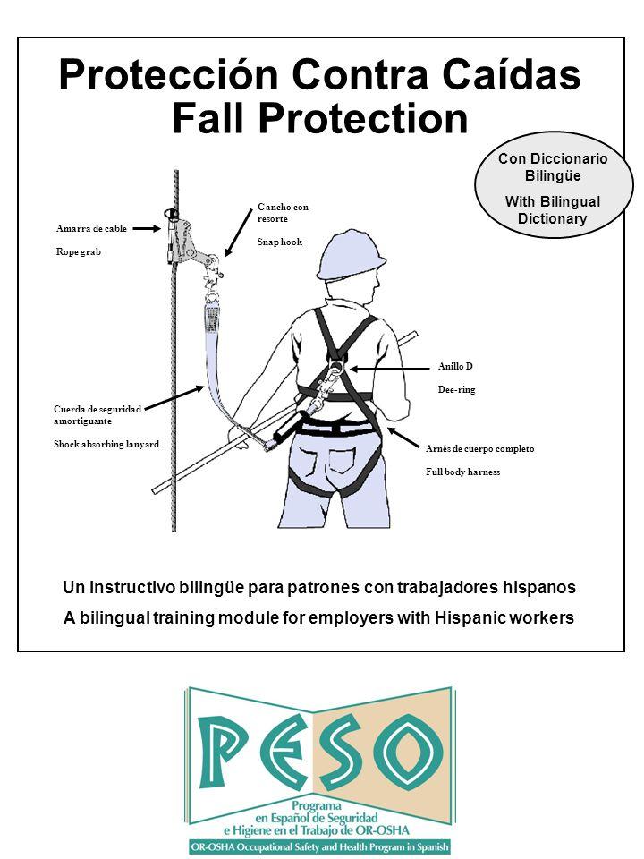 2 Dos maneras de parar lesiones o muerte por las caídas: Parar que el trabajador caiga a niveles inferiores.