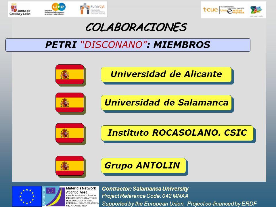 Contractor: Salamanca University Project Reference Code: 042 MNAA Supported by the European Union, Project co-financed by ERDF Materials Network Atlantic Area ESTUDIOS REALIZADOS Phosphor Gd 2 O 2 S:T (PHOSPHOR TECHNOLOGY) Dilución de Gd 2 O 2 S:T en diferentes oxidos 1.MxOy: INTERACCIONES OXIDOS-NANO Preparación de laminas de Gd2O2S:T Síntesis de Material Fosforescente