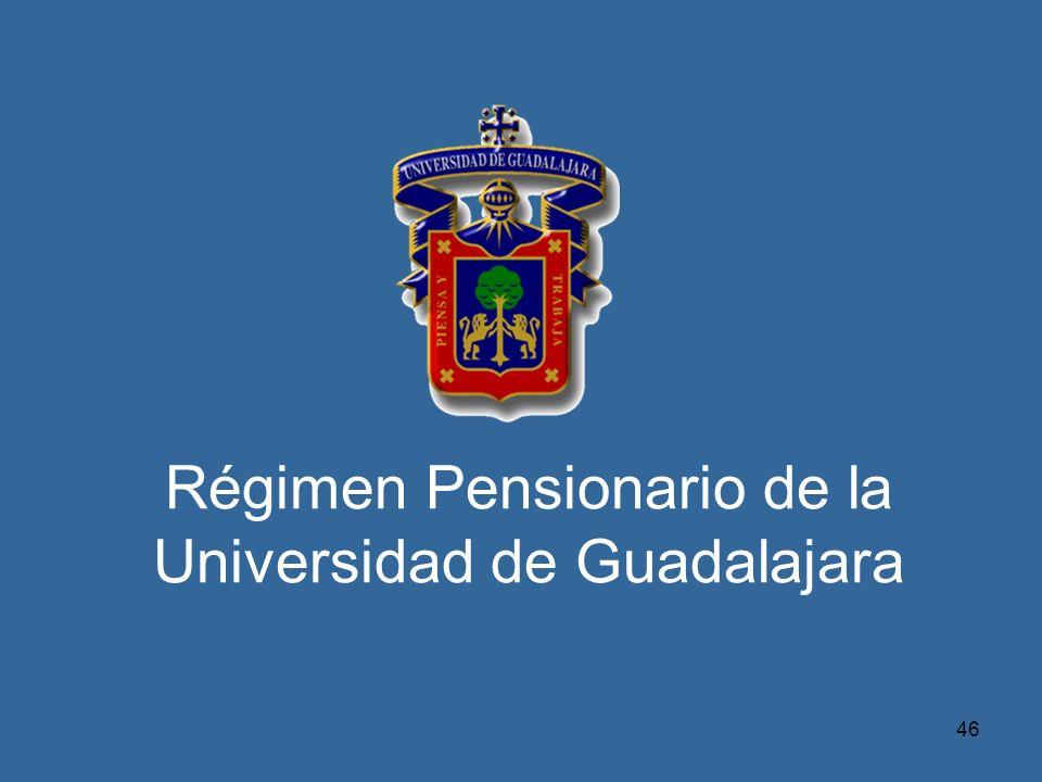 46 Régimen Pensionario de la Universidad de Guadalajara