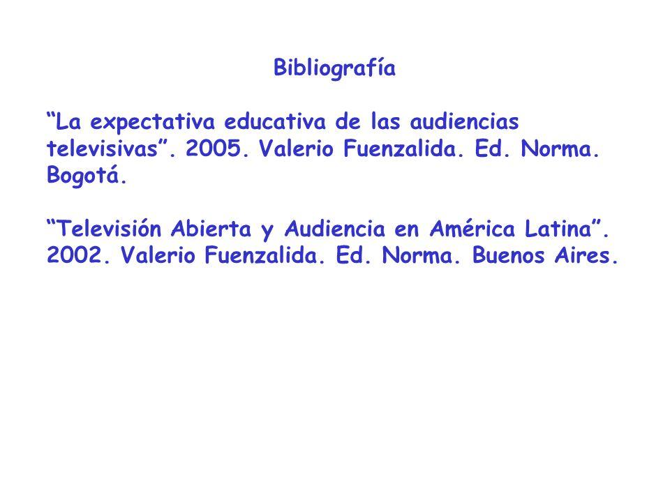 Bibliografía La expectativa educativa de las audiencias televisivas.