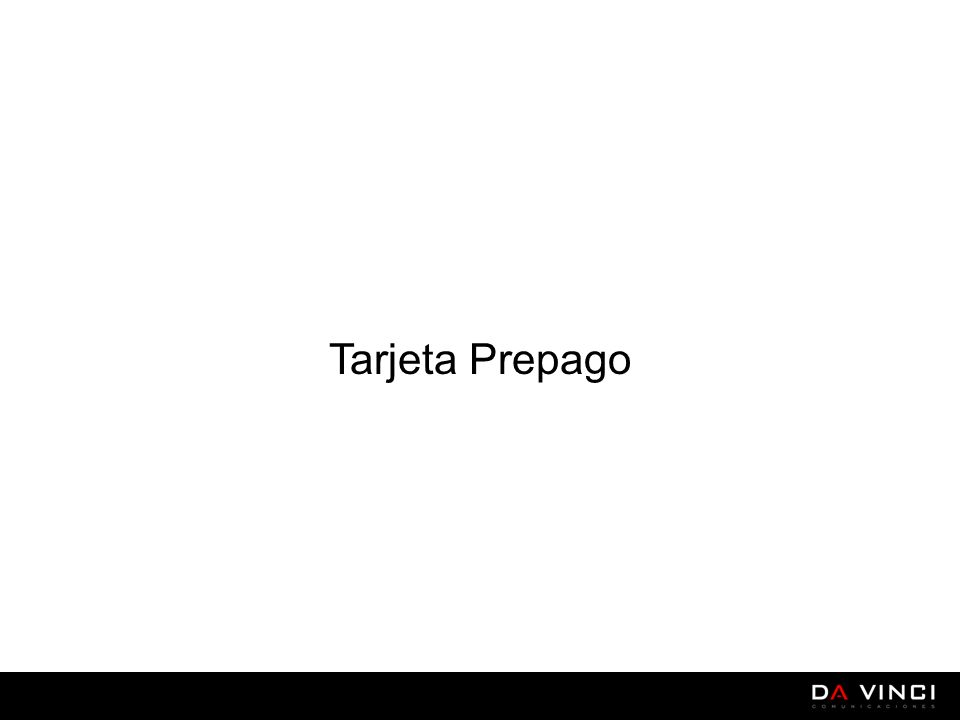 Tarjeta Prepago