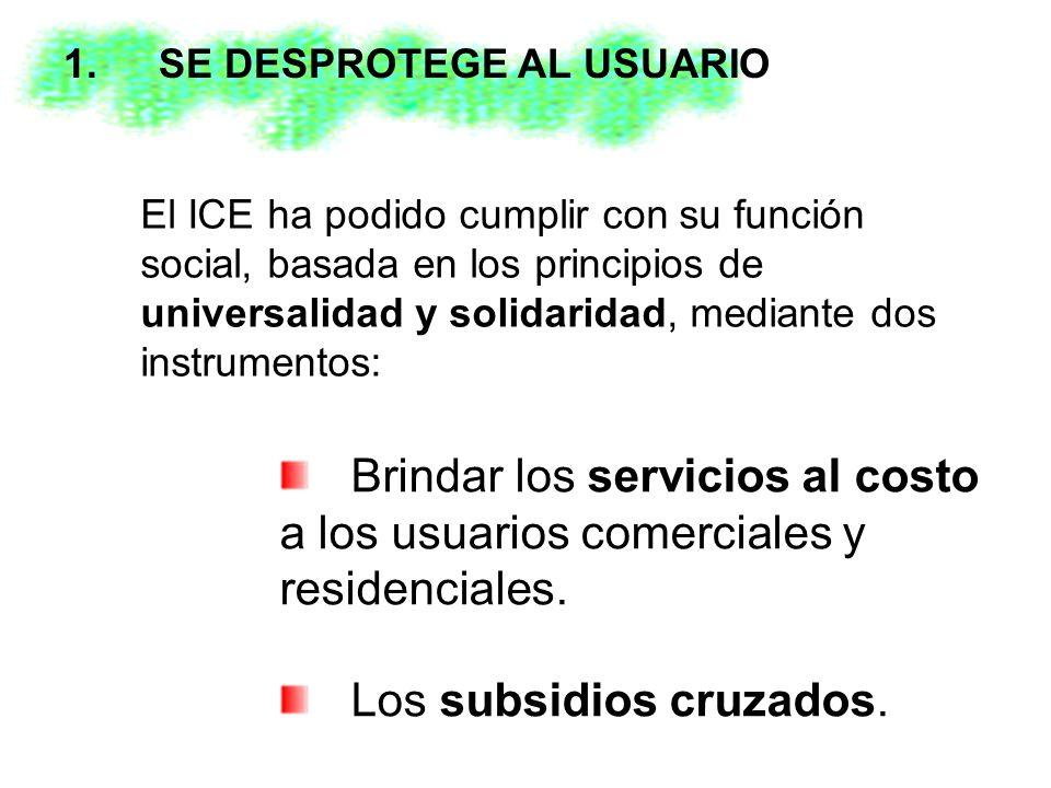 El ICE ha podido cumplir con su función social, basada en los principios de universalidad y solidaridad, mediante dos instrumentos: 1.