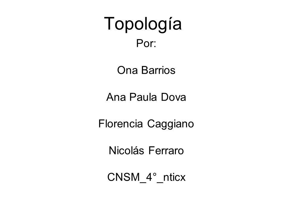 Topología Por: Ona Barrios Ana Paula Dova Florencia Caggiano Nicolás Ferraro CNSM_4°_nticx