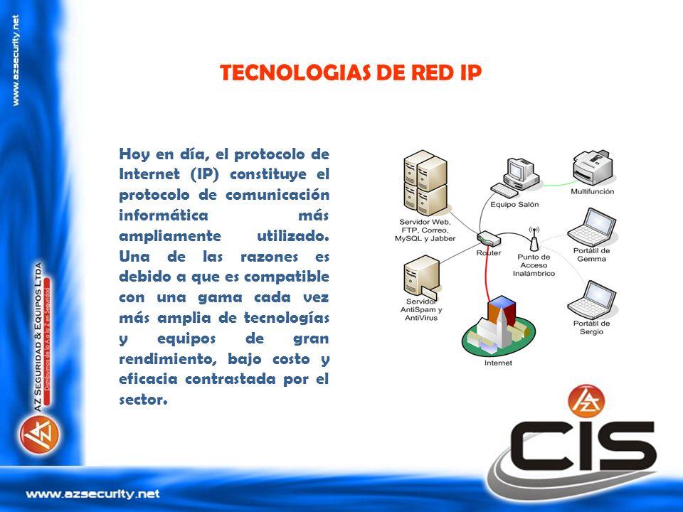 TECNOLOGIAS DE RED IP Hoy en día, el protocolo de Internet (IP) constituye el protocolo de comunicación informática más ampliamente utilizado. Una de