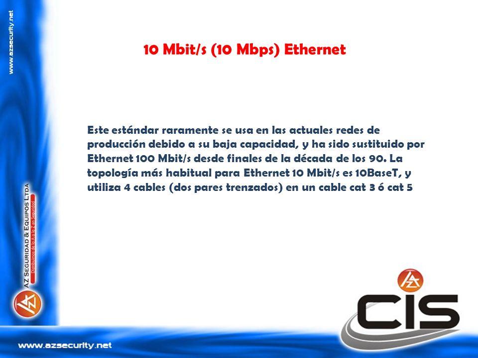 Este estándar raramente se usa en las actuales redes de producción debido a su baja capacidad, y ha sido sustituido por Ethernet 100 Mbit/s desde fina