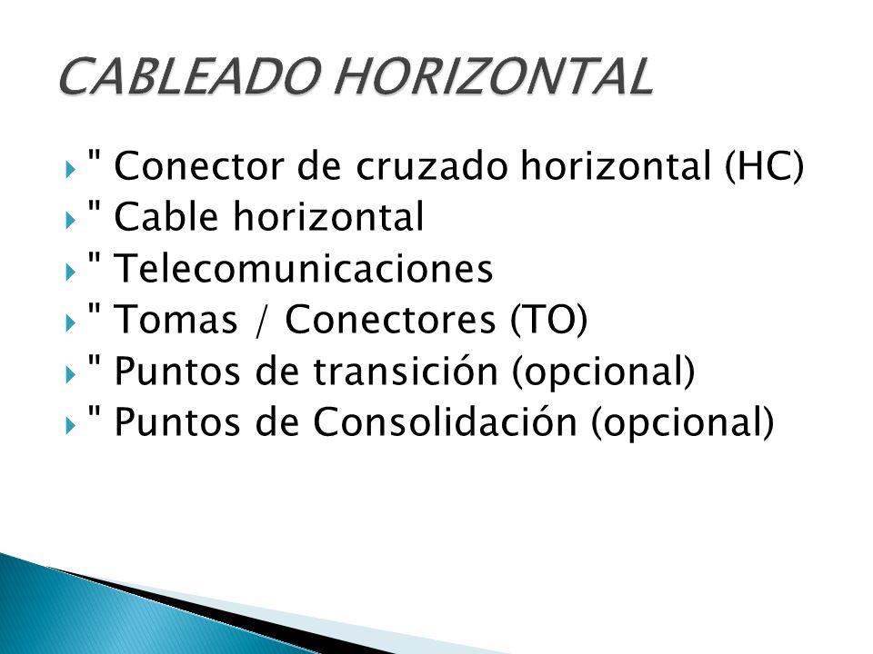 Conector de cruzado principal (MC) Conector de cruzado intermedio (IC) Cable troncal dentro del edificio Cable troncal entre edificios