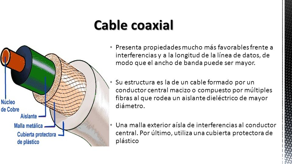 Presenta propiedades mucho más favorables frente a interferencias y a la longitud de la línea de datos, de modo que el ancho de banda puede ser mayor.