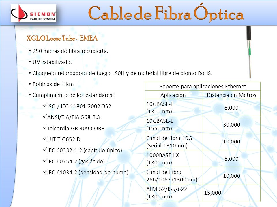 250 micras de fibra recubierta.UV estabilizado.