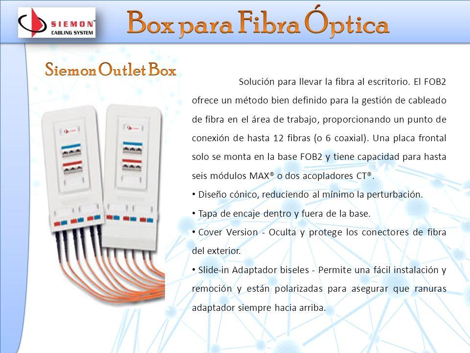Solución para llevar la fibra al escritorio.