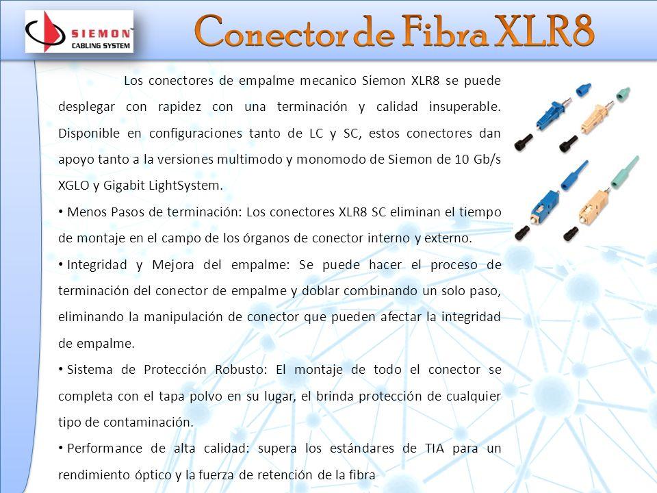 Los conectores de empalme mecanico Siemon XLR8 se puede desplegar con rapidez con una terminación y calidad insuperable.