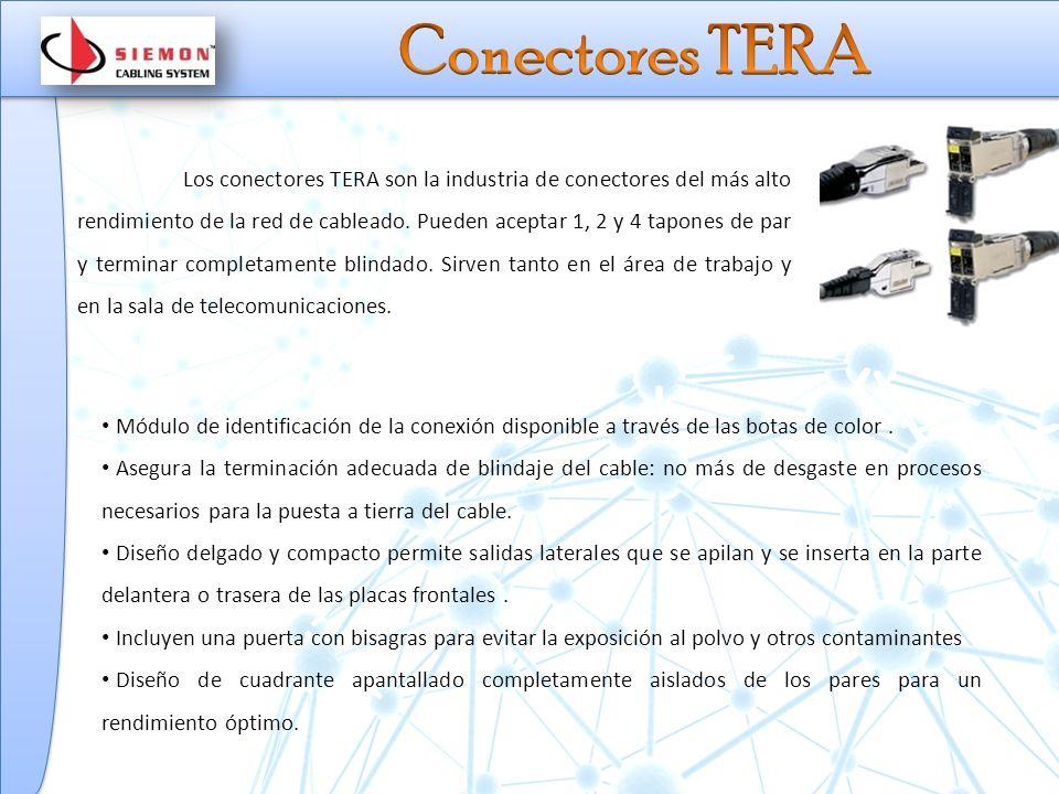 Los conectores TERA son la industria de conectores del más alto rendimiento de la red de cableado.