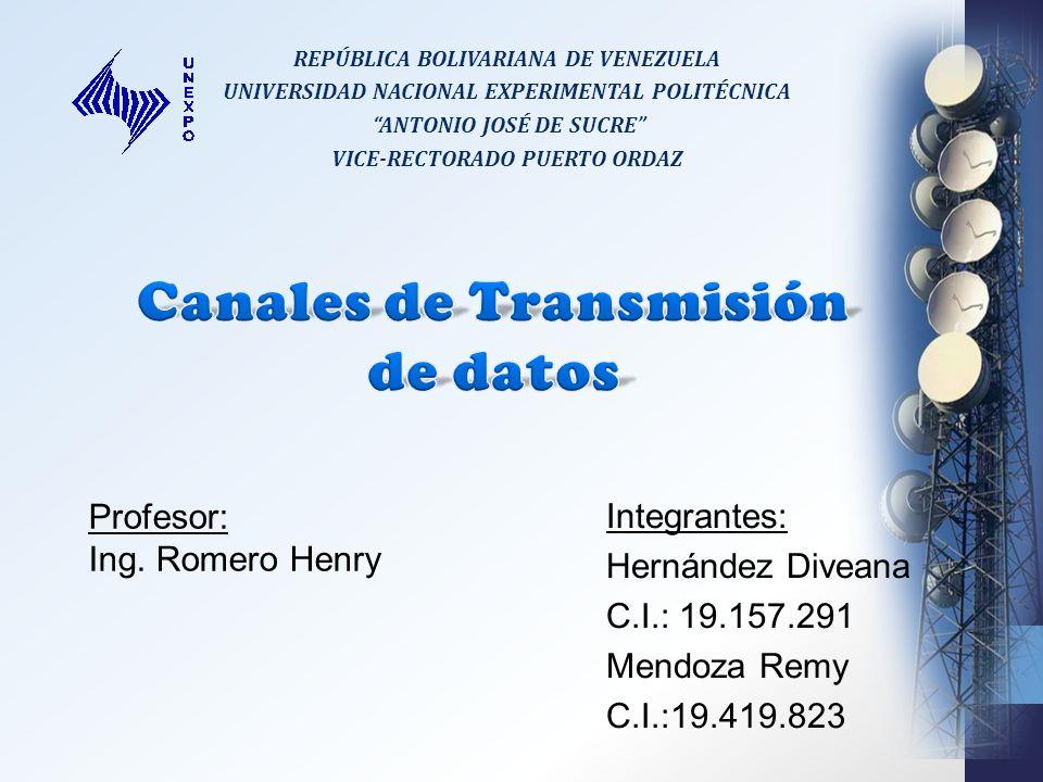 REPÚBLICA BOLIVARIANA DE VENEZUELA UNIVERSIDAD NACIONAL EXPERIMENTAL POLITÉCNICA ANTONIO JOSÉ DE SUCRE VICE-RECTORADO PUERTO ORDAZ Profesor: Ing.