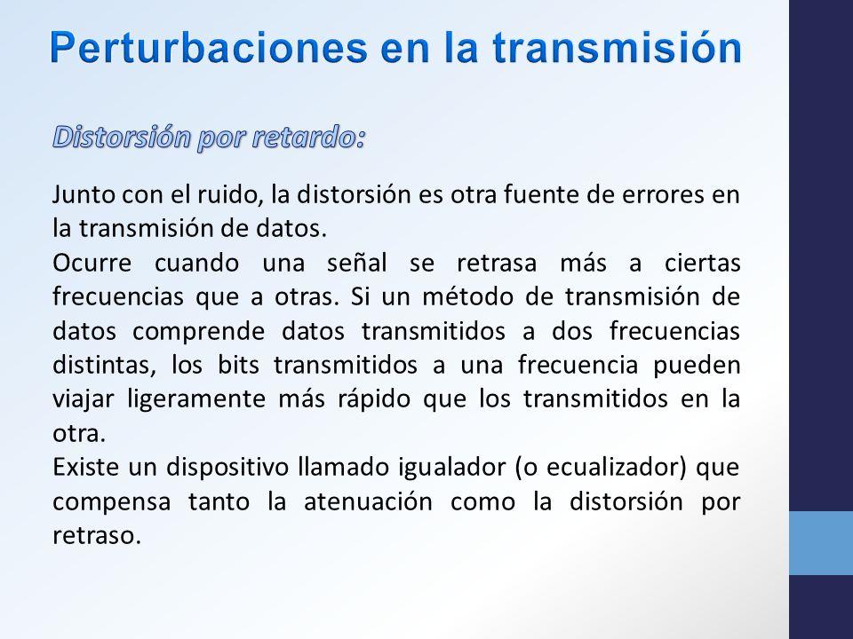 Junto con el ruido, la distorsión es otra fuente de errores en la transmisión de datos.