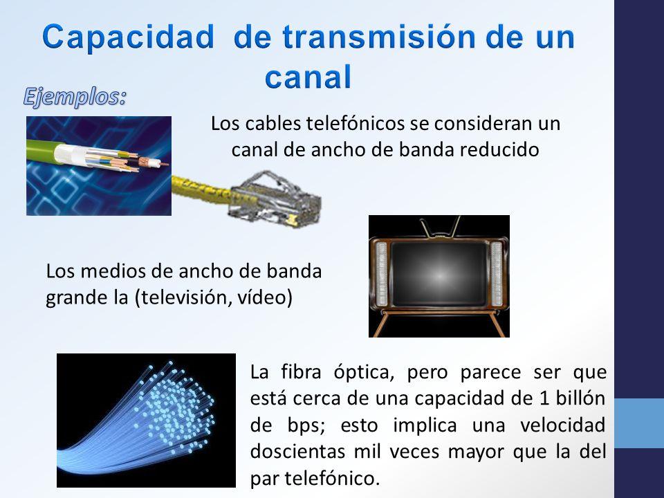 Una forma simple de definir un medio de transmisión podría ser: «Es el medio físico a través del cual viaja la señal desde el Transmisor hasta el Receptor»