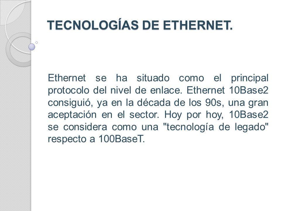 VELOCIDAD DE TRANSFERENCIA VELOCIDAD DE TRANSFERENCIA Ethernet estándar, denominada 10baset, soporta velocidades de transferencia de datos de 10 mbps