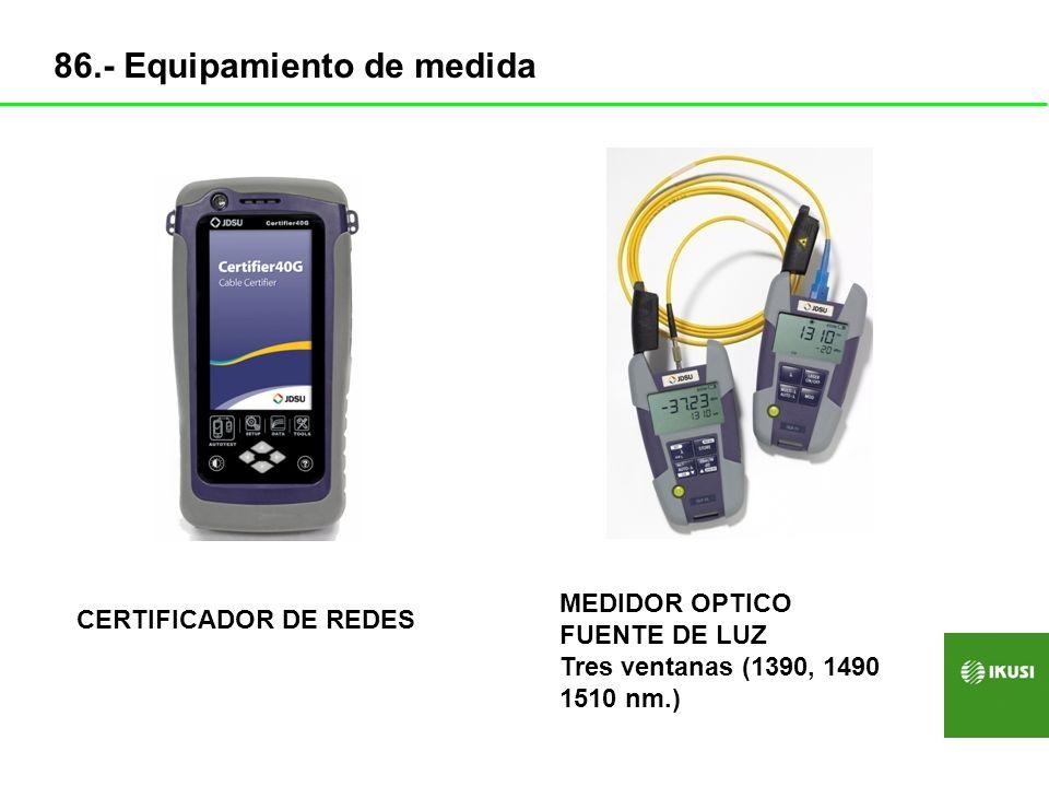 KIT EMPALMES MECANICOS + CORTADORA KIT FUSIONADORA+ CORTADORA 87.- Equipamiento de medida