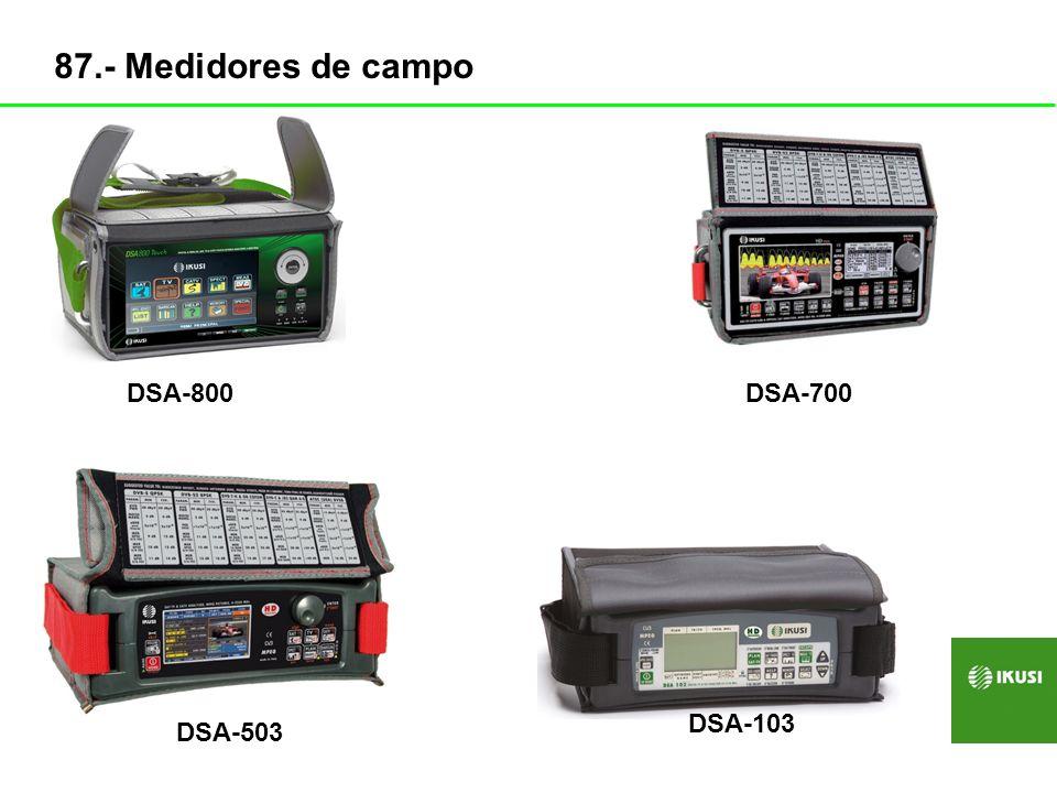 DSA-800DSA-700 DSA-103 DSA-503 87.- Medidores de campo