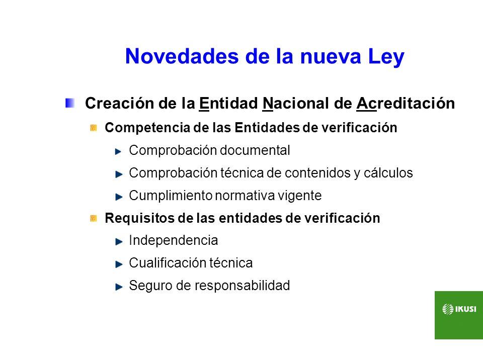Novedades de la nueva Ley Creación de la Entidad Nacional de Acreditación Competencia de las Entidades de verificación Comprobación documental Comprob