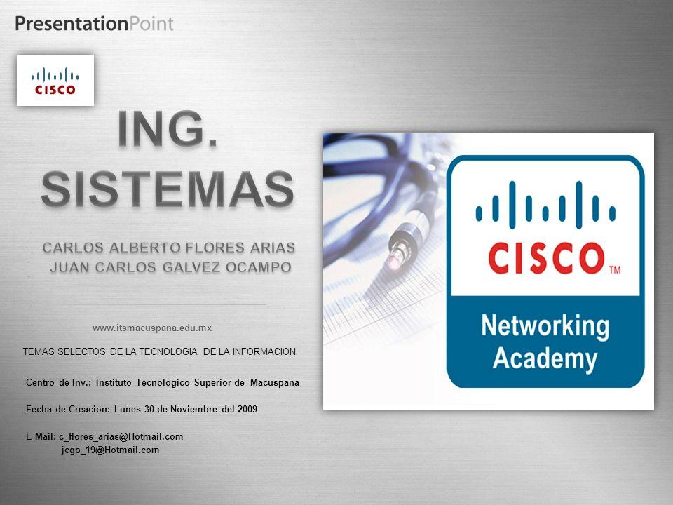 Here comes your footer Page 18 TEMAS SELECTOS DE LA TECNOLOGIA DE LA INFORMACION www.itsmacuspana.edu.mx Centro de Inv.: Instituto Tecnologico Superio