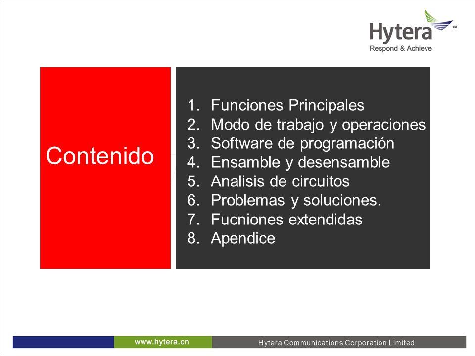 1.Funciones Principales 2.Modo de trabajo y operaciones 3.Software de programación 4.Ensamble y desensamble 5.Analisis de circuitos 6.Problemas y solu